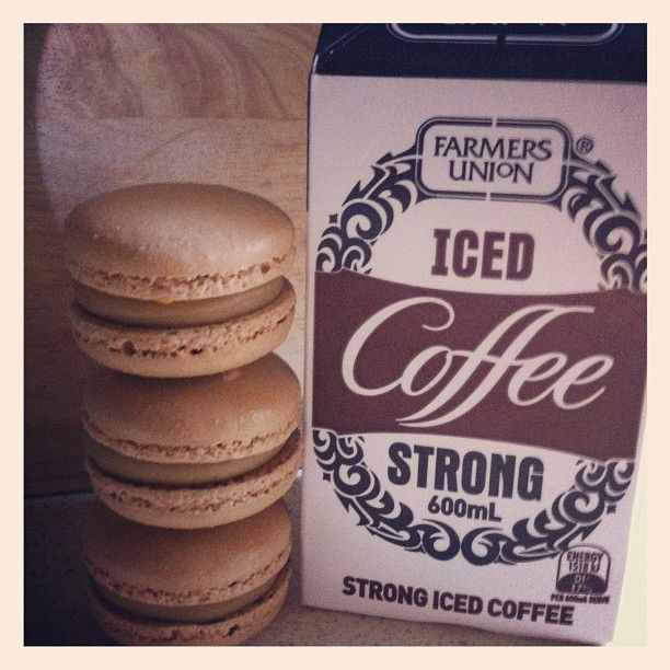 My own creation of farmers union iced coffee macaron. A true Aussie icon