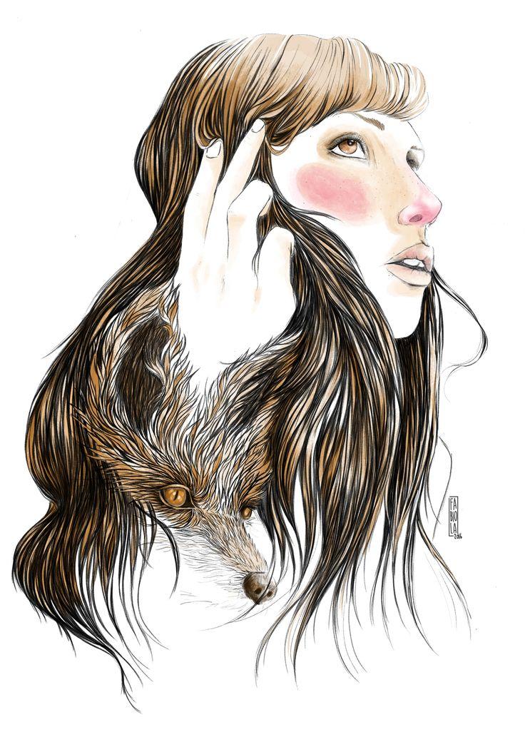 Red digital illustration