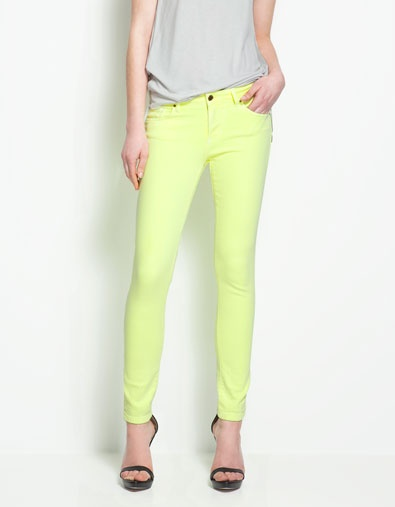 ZARA NL - SS12 - Slim Pop Fabric Pantalon