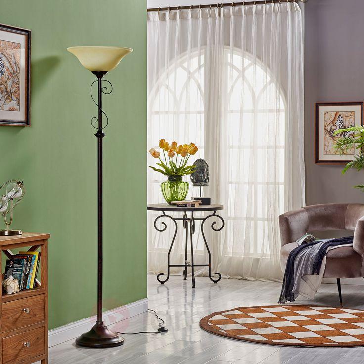 Dworkowa lampa stojąca SVERA, rdzawa 9620535
