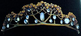 Rene Lalique Tiara made out of tortoise shell and cabochon moonstones