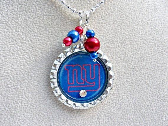 New York Giants Football Necklace New York Giants Jewelry NY