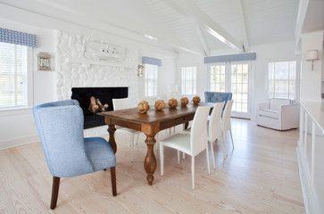 Okerwaw - Beach Style - Sala da pranzo - Altro Metro - di Christopher Arredamento per la casa di Nantucket, Inc.