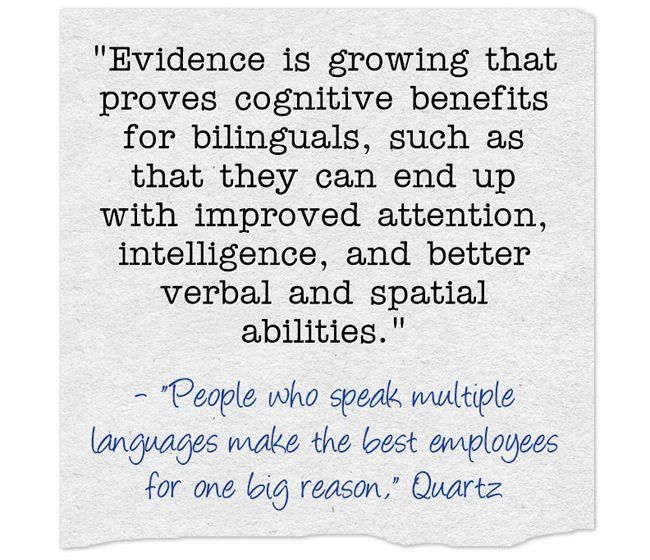 Quote Of The Day: Bilingual Is Better!