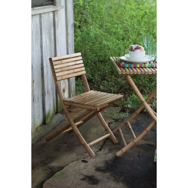 Kalalou Bamboo Folding Chair