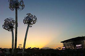 Coachella Sunset at the Coachella Valley Music and Arts Festival