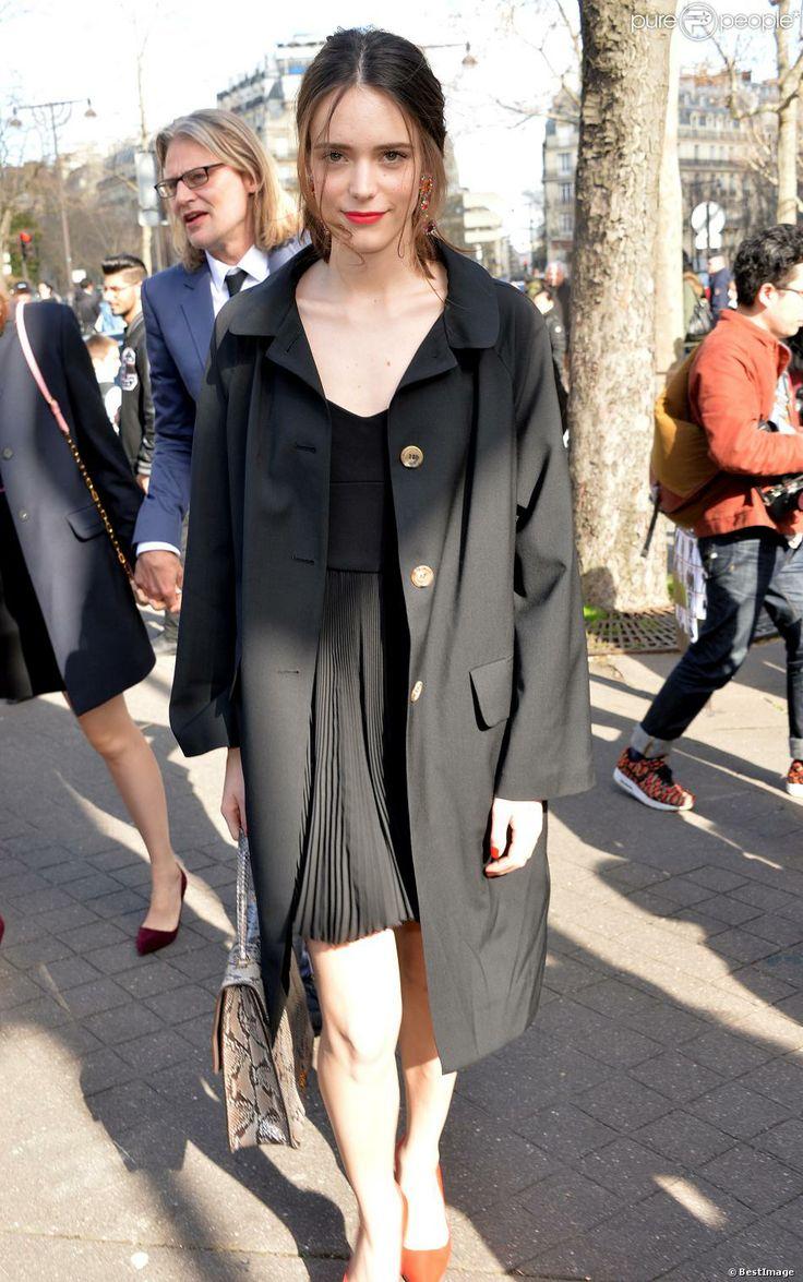 #StacyMartin at the Miu Miu show Womenswear Fall/Winter 2014-2015, March 5, 2014, Paris, France
