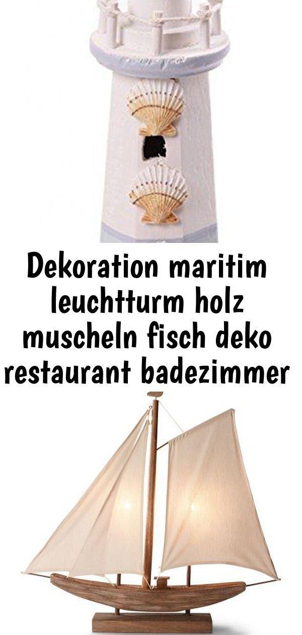 Dekoration Maritim Leuchtturm Holz Muscheln Fisch Deko Restaurant