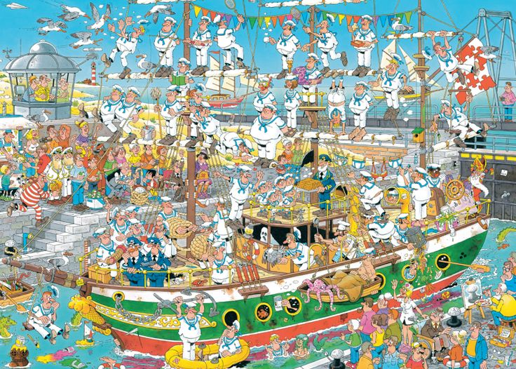 Jan van Haasteren - Tall Ship Chaos