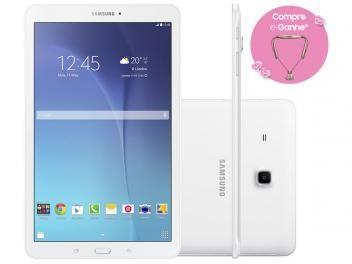 """Tablet-Super Oferta!-Tablet Samsung Galaxy Tab E 8GB 9,6"""" 3G Wi-Fi - Android 4.4 Proc. Quad Core Câm. 5MP + Frontal-O Galaxy Tab E 9.6 é uma excelente opção para quem adora estar sempre conectado a esta verdadeira central de mídia! Ele possui processador de 1.3 GHz com quatro núcleos que garante velocidade e estabilidade e 8 GB de memória interna para você armazenar seus arquivos. Confira!"""