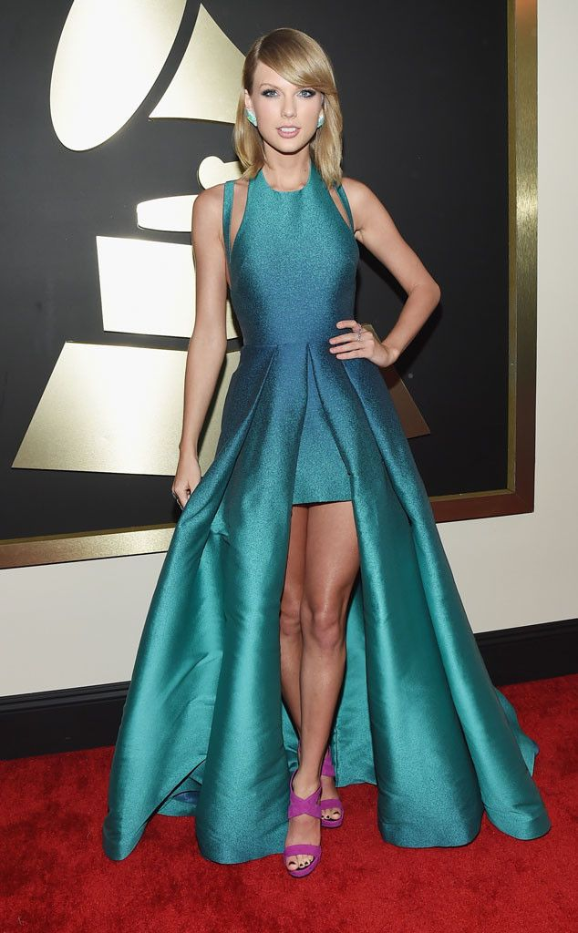 Taylor Swift from 2015 Grammys: Red Carpet Arrivals  In Elie Saab #2015grammys #redcarpet #taylorswift