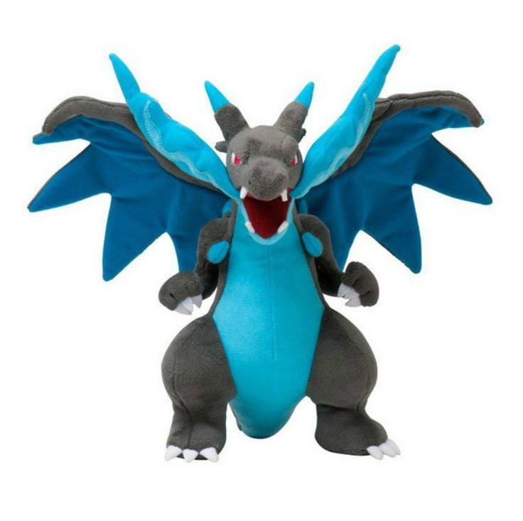 9.5 inch Pokemon boneka mewah, Boneka mainan, Mega evolusi X & Y Charizard lembut boneka boneka mewah, Hadiah kartun untuk anak pengiriman gratis