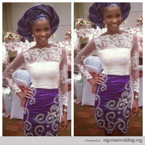 Nigerian Wedding George And Lace Aso Ebi Styles Africa Pinterest Fashion Styles African