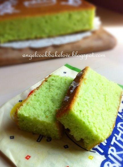 Cook.Bake.Love: 妈妈生日快乐 ~ 班兰牛油蛋糕 Pandan Butter Cake