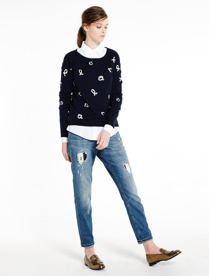 Sweater with inlays Marella