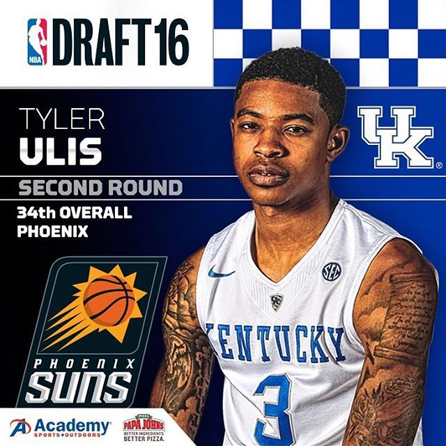 Tyler Ulis is headed to the Phoenix Suns with the 34th pick! Phoenix has become #KentuckyMBBWest. Wildcats currently on the Suns' roster: Ulis, Booker, Knight, Bledsoe and Goodwin. All guards. Wow!  Skal Labissiere was officially picked by the Suns but is reportedly being traded to the Kings.