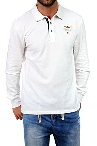 High class long sleeve polo shirt in the label's signature design. Straight cut. Polo collar with logo embossed metallic buttons. Sleeves with soft knitted cuffs. Vented hem. Logo appliqué on chest. Pure cotton in premium quality. Best Discount - 74% Off