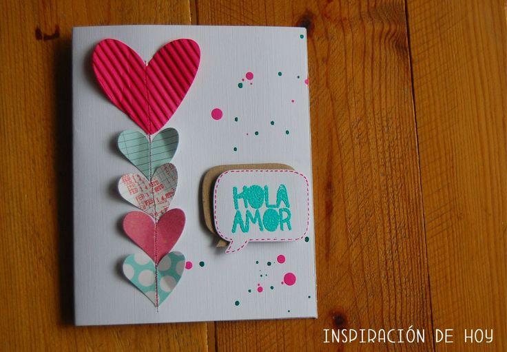 Tarjetas de amor con embossing (Inspiracion de hoy)