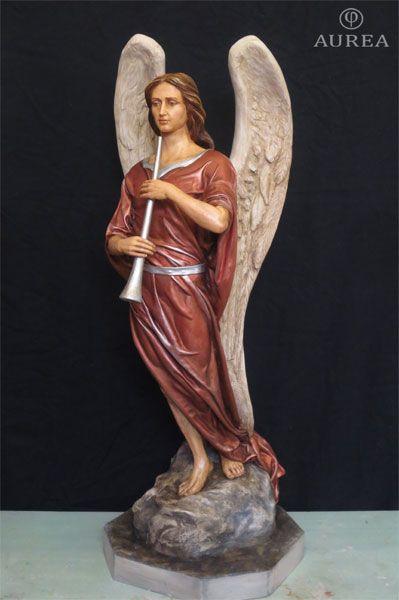 Ángel policromado con trompeta. Paso del Cristo del Paño de Moclín