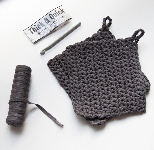 Hjemmehæklede grydelapper /crochet