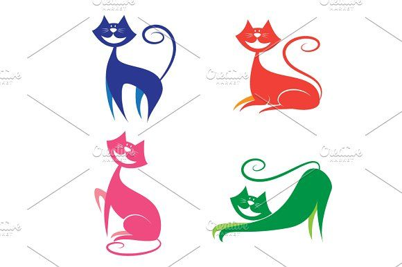 cat icon set by Watchada's factory on @creativemarket