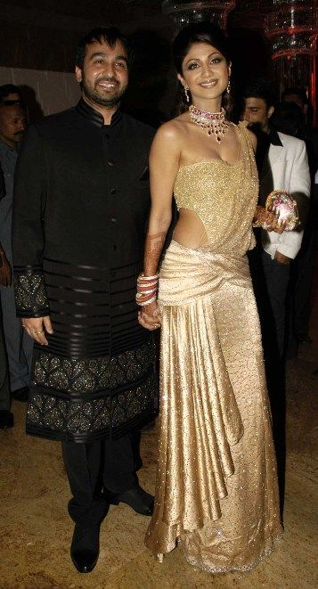 Shilpa Shetty saree gown