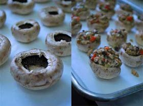 Clean Eating Recipe Box: Stuffed Mushrooms