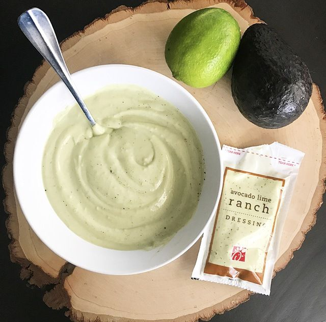 I LOVE chick-fil-a's avocado lime ranch dressing, but I don't love the fat! So today I'm making a healthier version at home...oh, and a salad too!