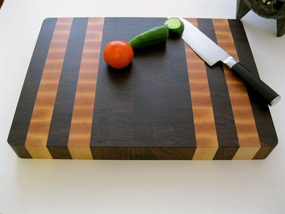 premium end grain butcher block cutting board by
