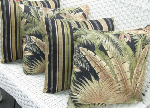 Set Of 4 20 Quot Indoor Outdoor Decorative Throw Pillows