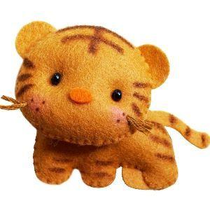 Moldes para hacer tigres de fieltro para imprimir01