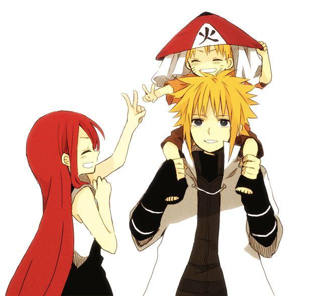 Minato, Naruto and Kushina, Naruto