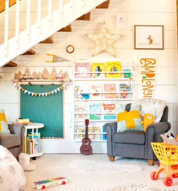 Creare un angolo lettura per bambini in cameretta o in salotto - Come realizzare un angolo lettura per bambini con materiali riciclati e nuovi