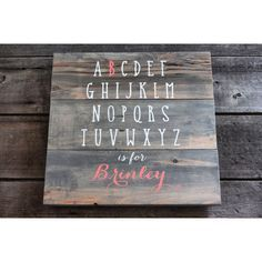 Custom name signs are a special way to personalize your child's bedroom. These pieces are hand-painted, made from reclaimed wood, and comes ready to hang with h