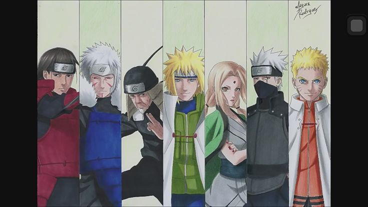 All 7 Hokages drawing ♥