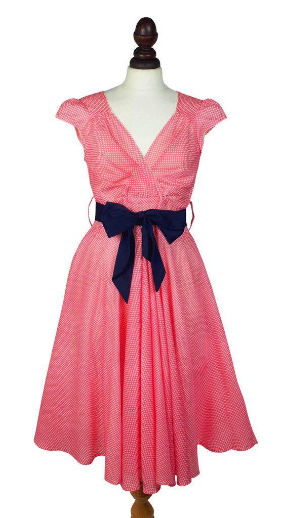 Regina Cotton Dress in Coral