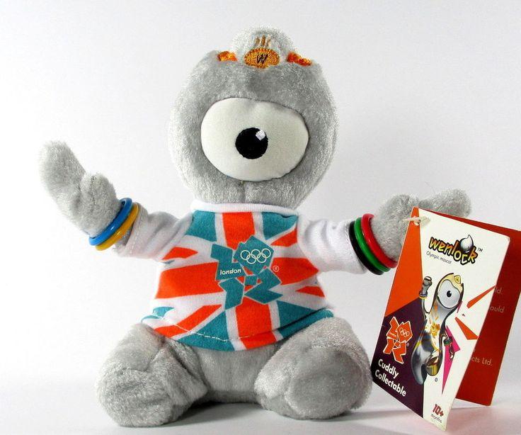 "Wenlock London 2012 Olympics Mascot Souvenir Plush Stuffed Animal 6"" w Tags  | eBay"