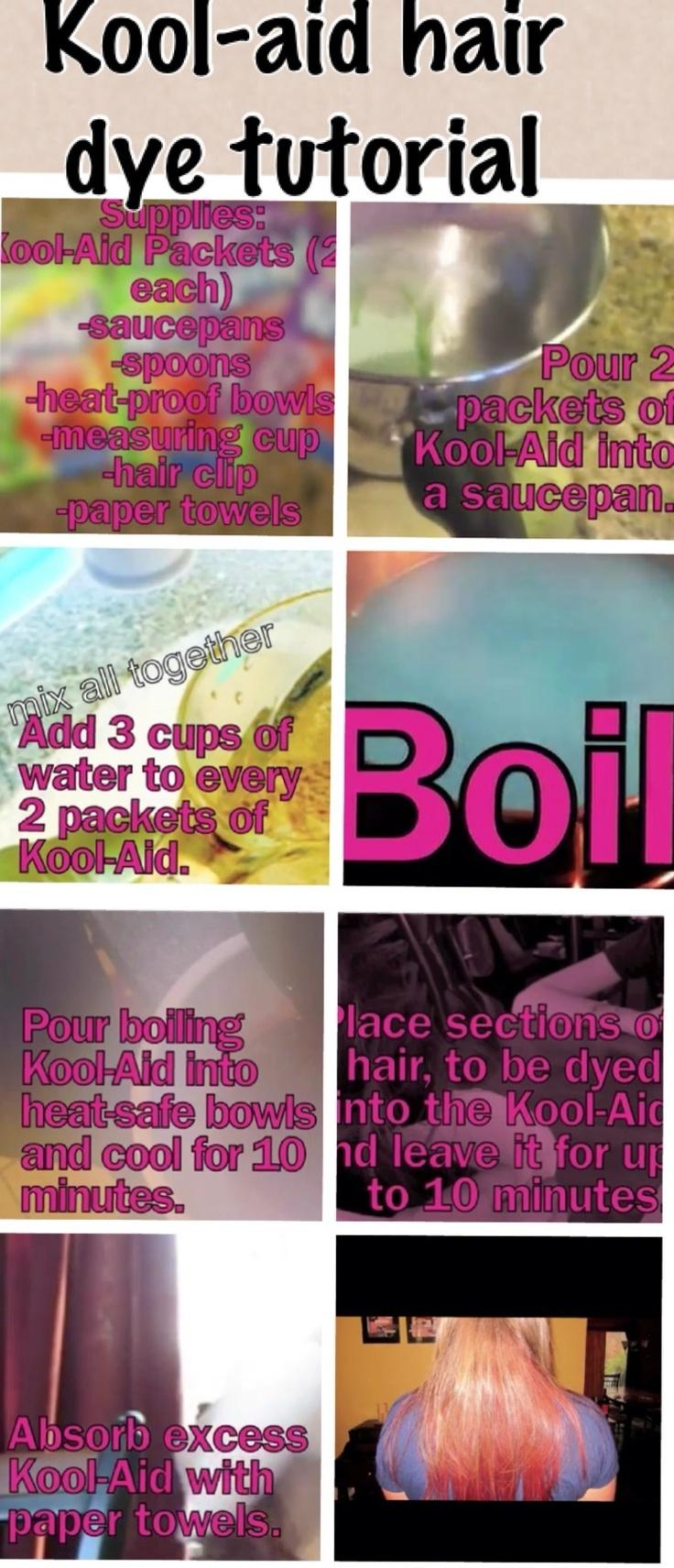 48 best Kool-aid hair images on Pinterest | Hairstyles, Hair ideas ...