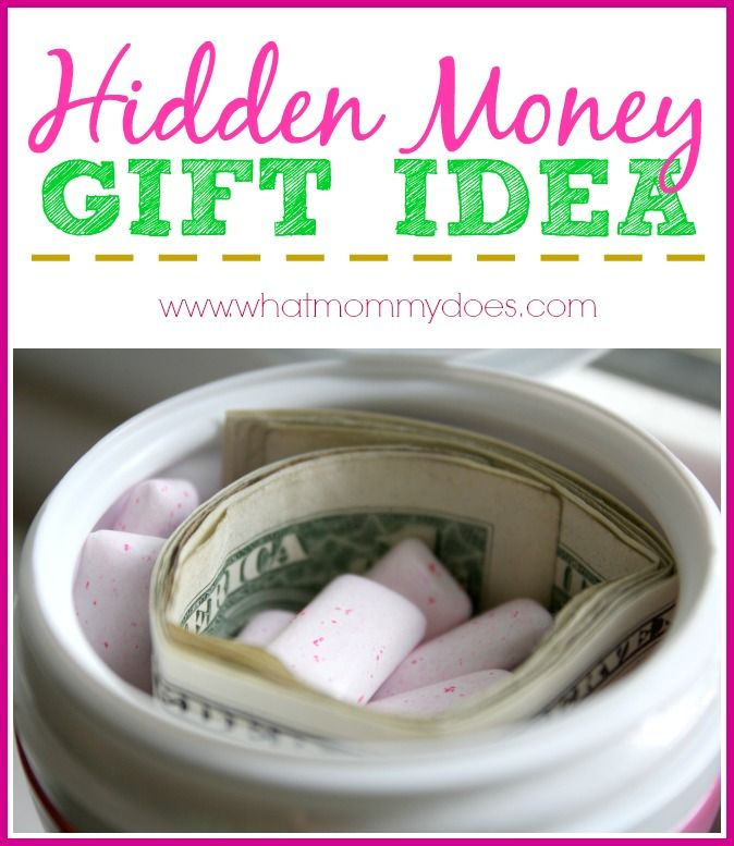 Clever Money Gift Idea - Dollar Bills Hidden in a Sneaky Place ...