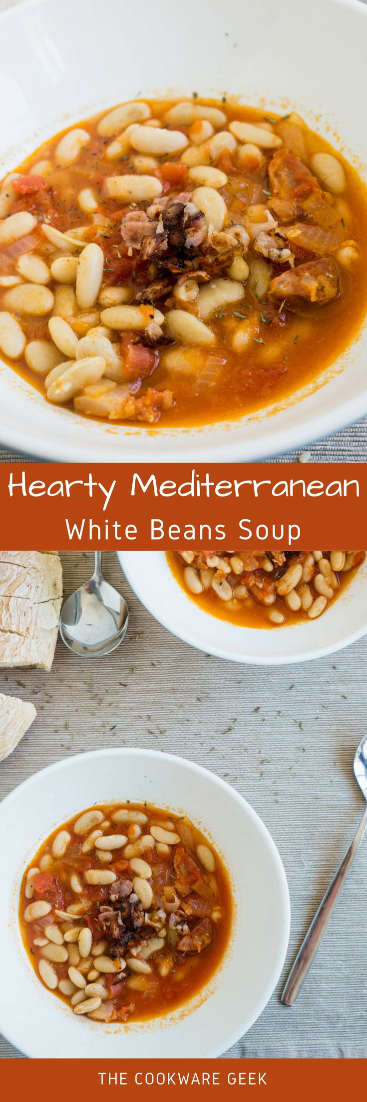 This white beans soup is like a big hug for your stomach. It is cozy, hearty, and 100% warmly. Perfect for a cold winter night.| The Cookware Geek
