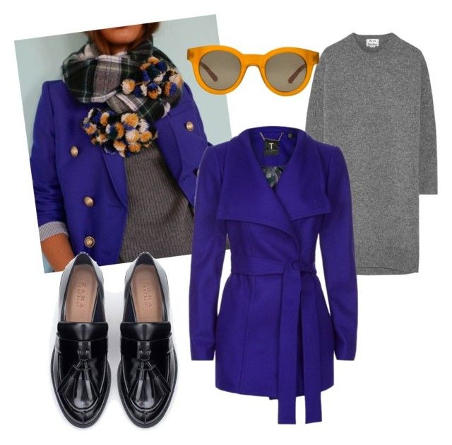 New preppy by stefania-fornoni on Polyvore featuring polyvore, fashion, style, Acne Studios, Ted Baker, Zara and Sun Buddies