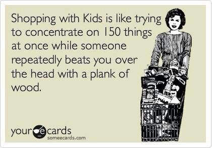 Shopping with kids..