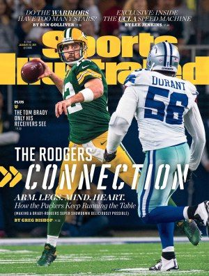 Sports Illustrated cover of Aaron Rodgers, January 2017.