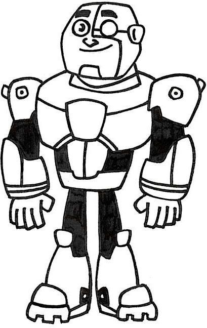 Teen Titans Go Cyborg Lineart By Animeangelartist1990
