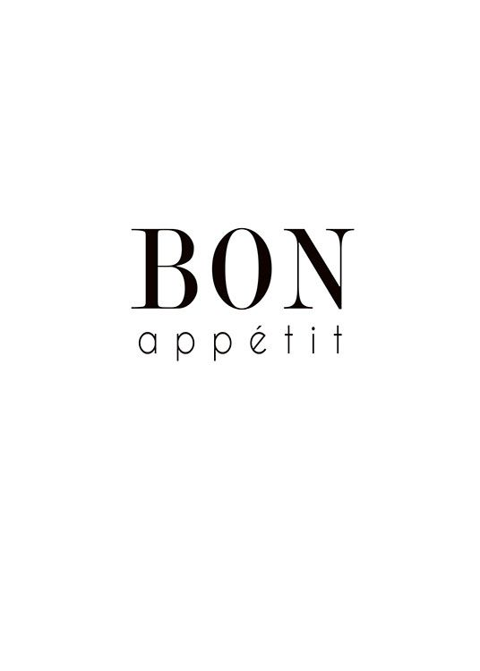 Poster for the kitchen with the text Bon appetit
