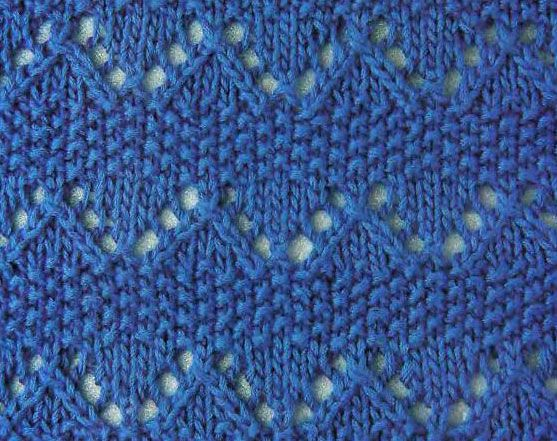 Zig Zag Stitch Loom Knitting : Zig zag and moss from http knittingkingdom s