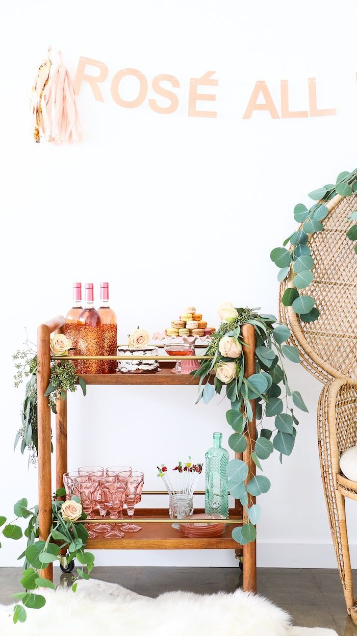 From kara s party ideas rustic dessert table display designed by - Dessert Beverage Stand From A Ros All Day Bridal Shower On Kara S Party