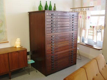 Beautiful old architect drawers at My Modern Nest