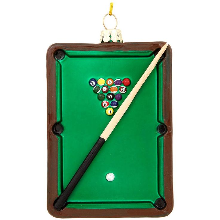 Pool Table With Cue Glass Ornament Products Tables And