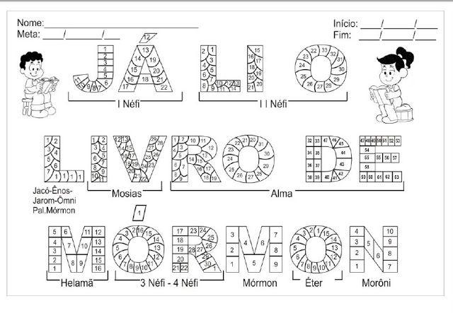 As Tontas Vão Ao Céu: Gráfico de Leitura do Livro de Mórmon